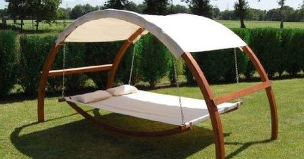 This Swing Bed Is Dreamy Backyard Patio Swing Dream Backyard
