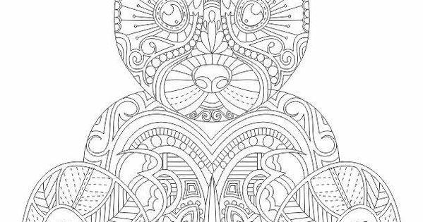 Teddy Bear Abstract Doodle Zentangle