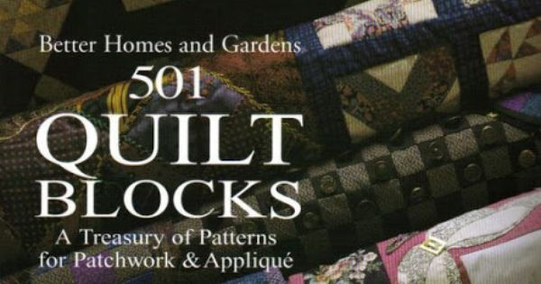 Better Homes And Gardens 501 Quilt Blocks Picasa Web