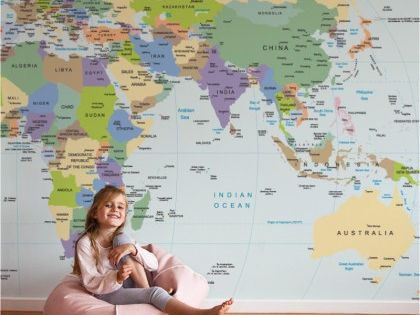 3 cool world map decals to get kids excited about geography – Kids Travel Map