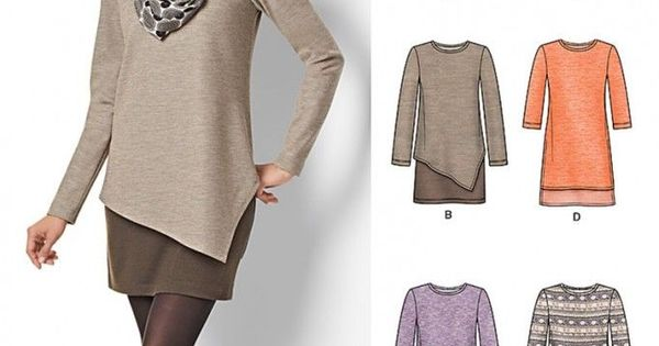Free UK P&P - New Look Ladies Easy Sewing Pattern 6412 Jersey Knit Tops ...