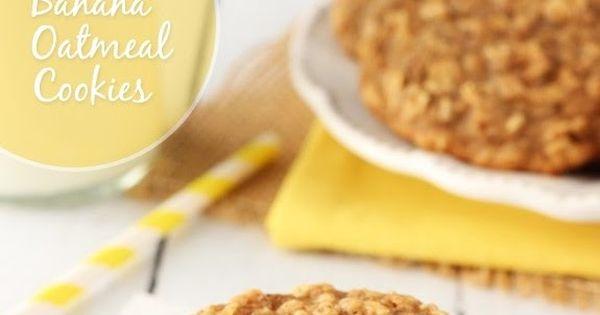كوكيز الشوفان النباتي Plant Based Diet نباتي صحي كوكيز شوفان موز قرفه جوز هند Plant Based Diet Banana Oatmeal Cookies Banana Oatmeal Oatmeal Cookies