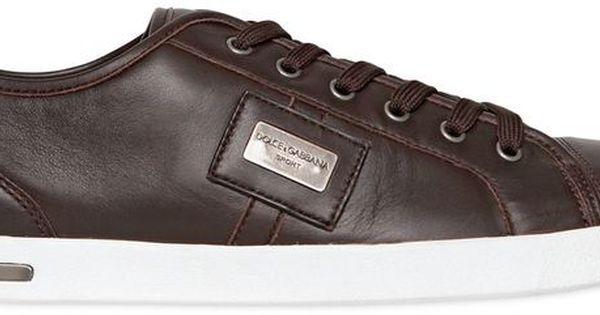 Luisaviaroma Uk Logo Plaque Nappa Leather Sneakers Leather Sneakers Sneakers Leather
