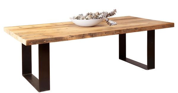 Bespoke Furniture Custom Plaistowe Recycled Baltic Pine Timber Dining Table With Industrial