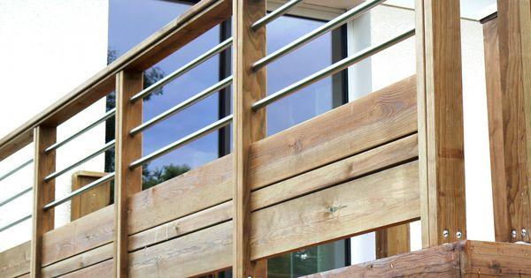 haute vienne 87 limoges garde corps bois et inox sur mesure patio pinterest vienne. Black Bedroom Furniture Sets. Home Design Ideas