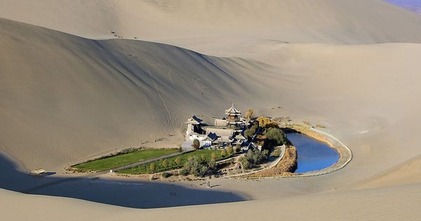 Crescent Lake (Yueyaquan), Gobi Desert, China - 15 Most Secluded And Beautiful