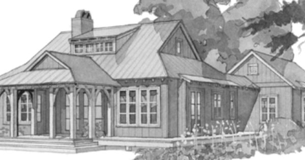 I Love The Separate Guest House Idea House Plans