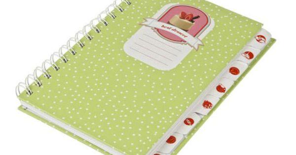 Libro para escribir recetas con motivos de cupcakes un - Libros de cocina originales ...