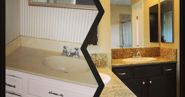 Before And After Of The Master Bathroom Using A 203k