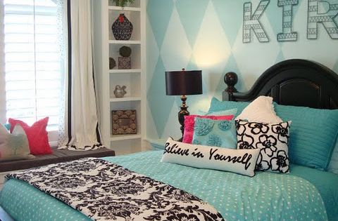 Beautiful teen girl's room idea. New bedroom ideas