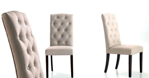 Venta online de sillas silla capitone tapizada en lino for Sillas capitone modernas