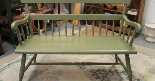 painted deacons bench  sold  in the shop now kitchen island sideboard buffet buffet used as kitchen island