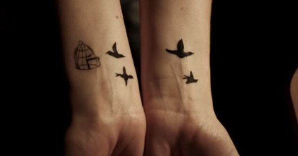 Like the idea of a tattoo being finished on the next wrist...