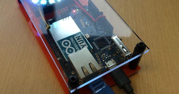 Internet of things neopixel web service api to
