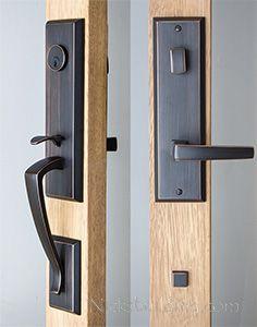 3 Point Lock Handlesets Exterior Door Hardware Smart Door Locks Stained Glass Window Panel