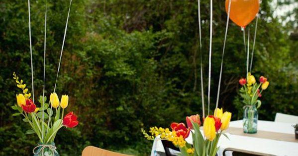 Dekoideen gartenparty tischdeko ballons blumen geburtstag pinterest deko garten and parties - Dekoideen gartenparty ...
