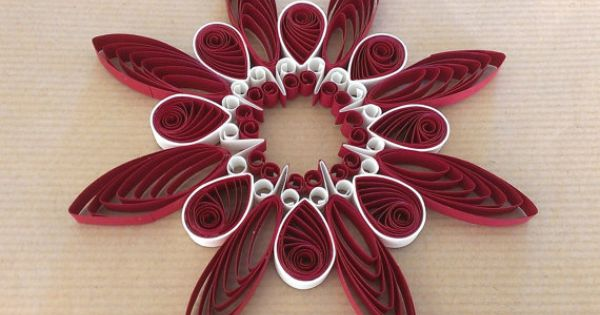 Quilling pattern and template step by step instructions for Easy quilling designs step by step