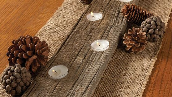 Create a DIY rustic votive candle holder for natural home decor!