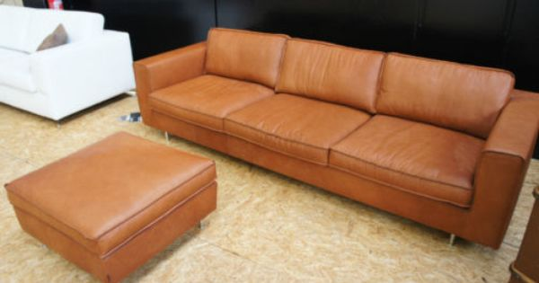 Tommy M Couch 4 Sitzer Hocker Blues Sofa Leder Braun Lp 6 711 In In Frankfurt Ebay Sofa Leder Braun Sofa Leder Hocker