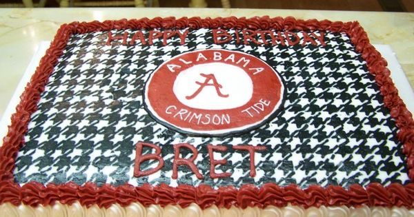 Alabama Football Houndstooth Cake Roll Tide All Things