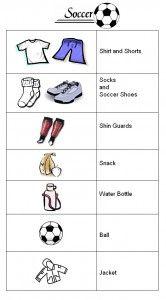 Printable Soccer Prep List Soccer Dad Soccer Bag Soccer Coaching