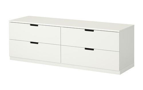 ikea nordli 4 drawer dresser you can use one modular chest of drawers or combine several. Black Bedroom Furniture Sets. Home Design Ideas
