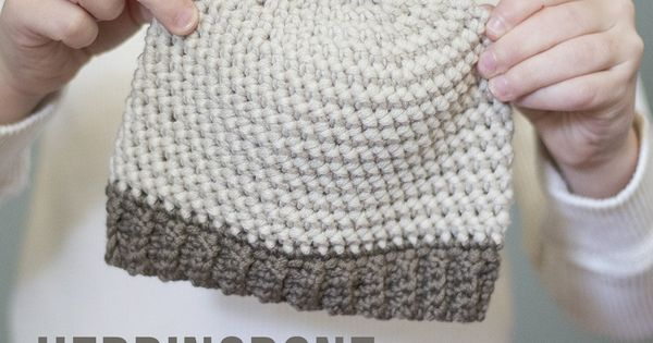 Herringbone Stitch Knit Hat Pattern : Herringbone Baby Hat Crochet Pattern, Sizes Newborn - 12 months Free baby h...