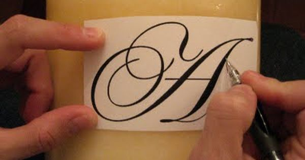 Monogrammed Candle (gift idea)