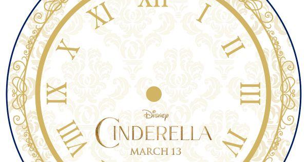 Disney Cinderella Printable Clock Craft | Printable ...
