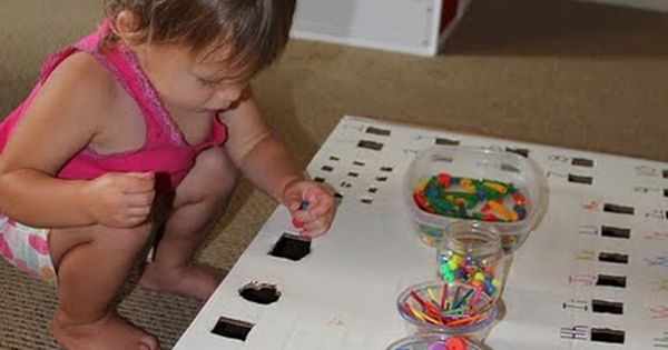 Great activity that grows with your child... Younger kids just fit rocks