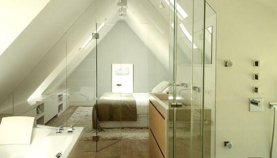 Renovated Belgian Farm House Glass Enclosed Bathroom