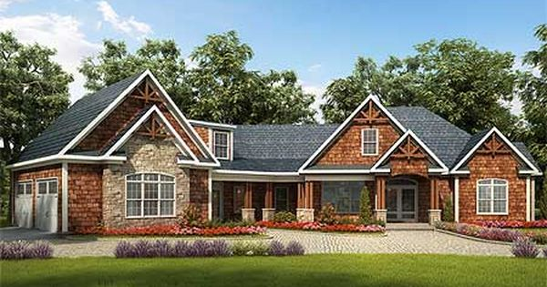 Plan 36028dk Angled Craftsman House Plan With Bonus Expansion