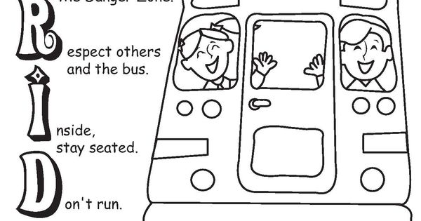 pride power coloring sheet - school bus safety     durhamschoolservices com