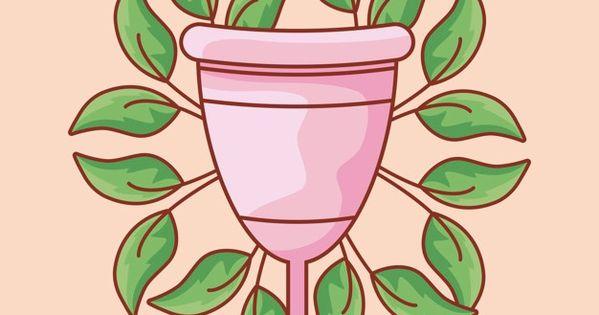Copa Menstrual Femenina Con Hojas Natura Premium Vector Freepik Vector Mujer Medico Di Copa Menstrual Copas Menstruales Pintura Artistica Con Aerosol
