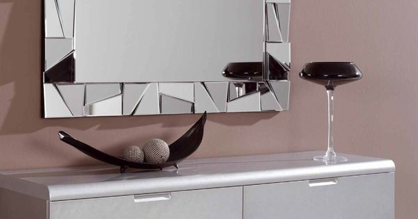 Espejo decorativo rectangular de cristal con marco formado for Espejos para colgar