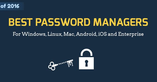 which is the best password manager here we listed the 2016 top best free password manager