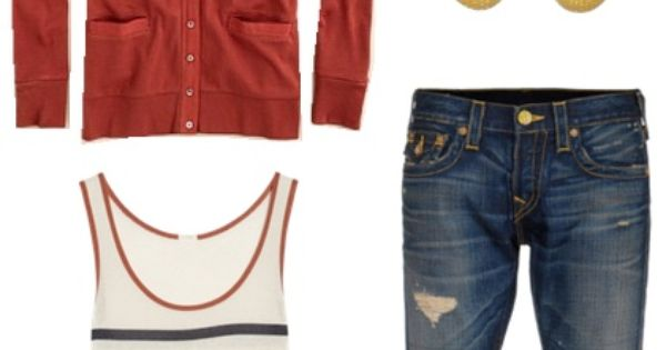 Cute Outfit Ideas of the Week – Jeans, tank, cardigan and colorful