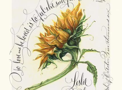 Sunflower by maria thomas art line zentangles and