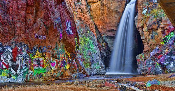 manitou springs graffiti waterfalli want to take