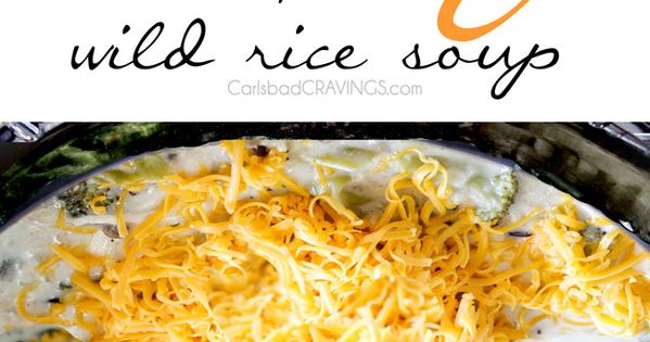 Wild rice soup, Rice soup and Chicken broccoli on Pinterest