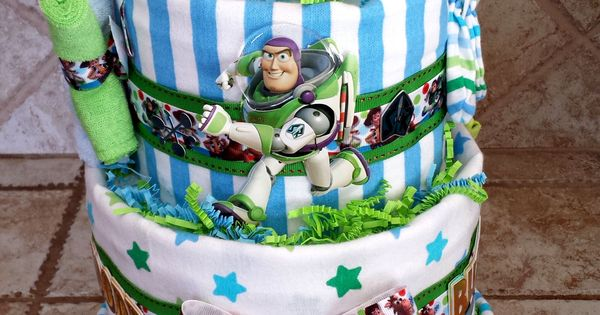 Blue And Green Toy Story Woody And Buzz Lightyear Diaper