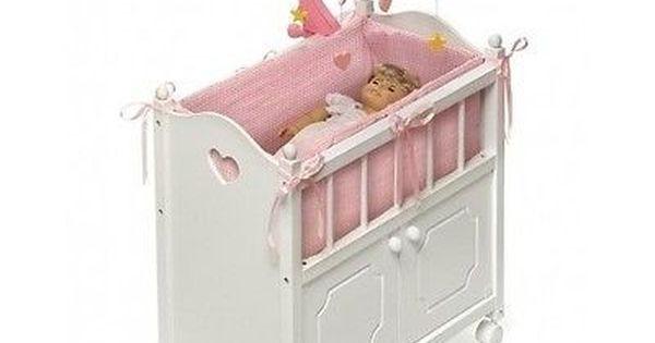 Badger Basket Doll House Cradle Bed Rosebud Fit American Girl Dolls Furniture