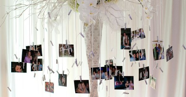 What a unique way to display memories of the bride and groom
