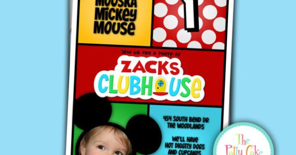 Mickey Mouse Clubhouse Invitation Minnie by thepattycakepress, $18.00