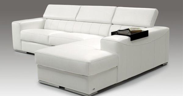 Divano letto bianco moderno for Chaise longue divano