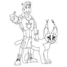 Wild Kratts Coloring Pages Free Printable Momjunction Cat Coloring Book Wild Kratts Birthday Party Wild Kratts