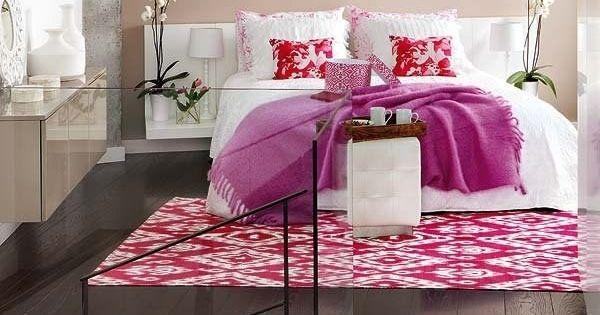 Fun pink bedroom