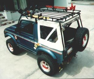 Samurai Roof Rack Mounts Exterior Of The Soft Top And Exterior Of The Fold Down Front Windshield Suzuki Samurai Samurai Roof Rack
