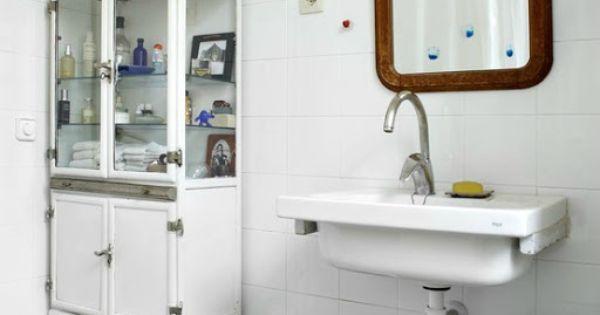 16 Epic Bathroom Storage Ideas: Old Hospital Pharmaceutical Cabinet For Bathroom Storage