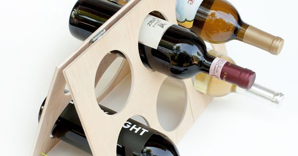 DIY Idea: Foldable Wine Rack from A Girl Who Makes